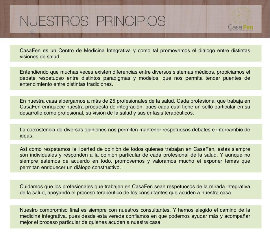 Nuestros principios CasaFen
