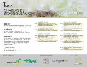 Primer Ciclo de Charlas de Biorregulación en CasaFen - poster design by Daniela Boudeguer
