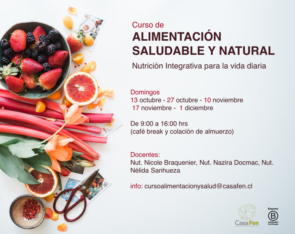 Curso de alimentacion saludable y natural, Nutrición Integrativa para la vida diaria