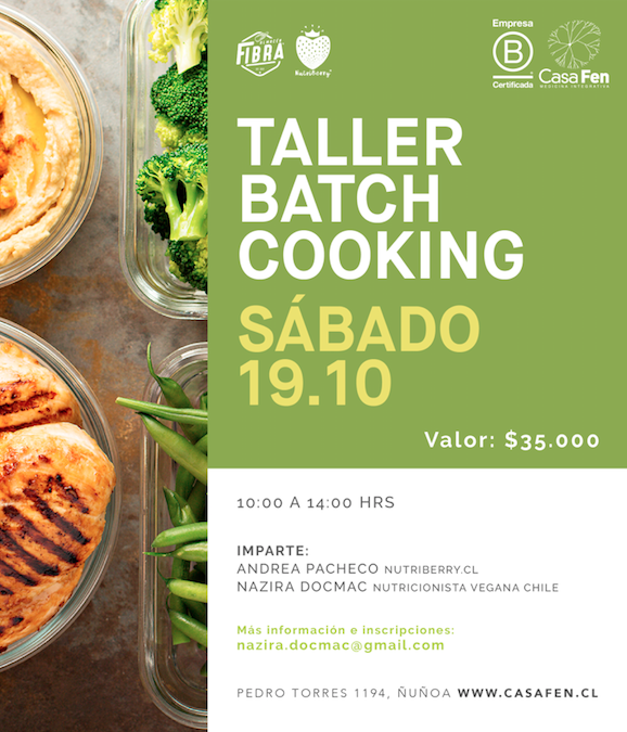 Taller de batch cooking - CasaFen oct19