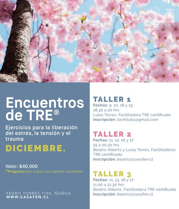 Taller TRE ejercicios para la liberacion de la tension, el estres y el trauma - CasaFen