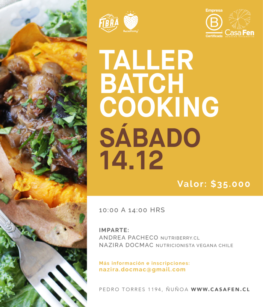 Taller batch cooking Casafen
