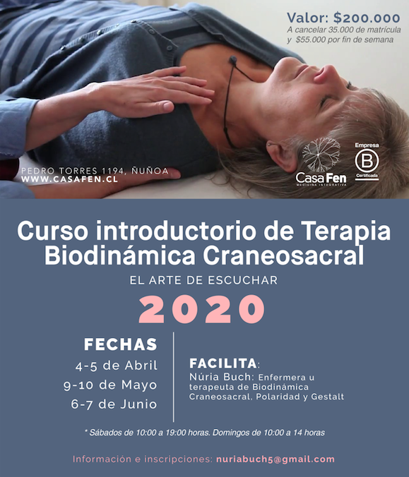 Curso introductorio de terapia biodinámica craneosacral 2020 - CasaFen