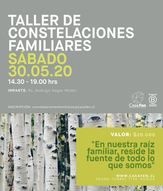 Taller constelaciones familiares CasaFen mayo 2020