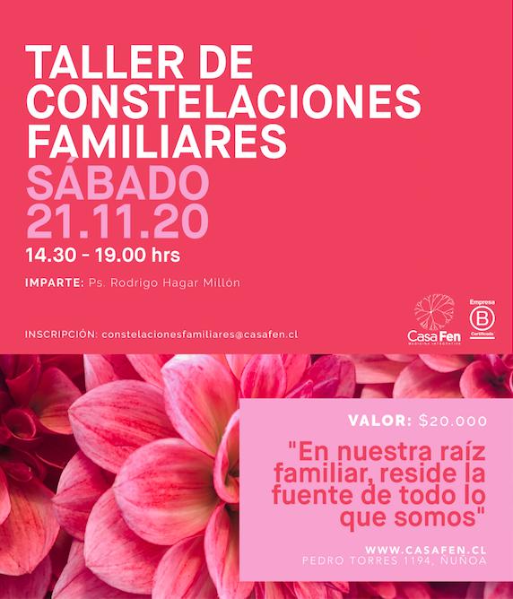 Taller constelaciones familiares CasaFen noviembre 2020
