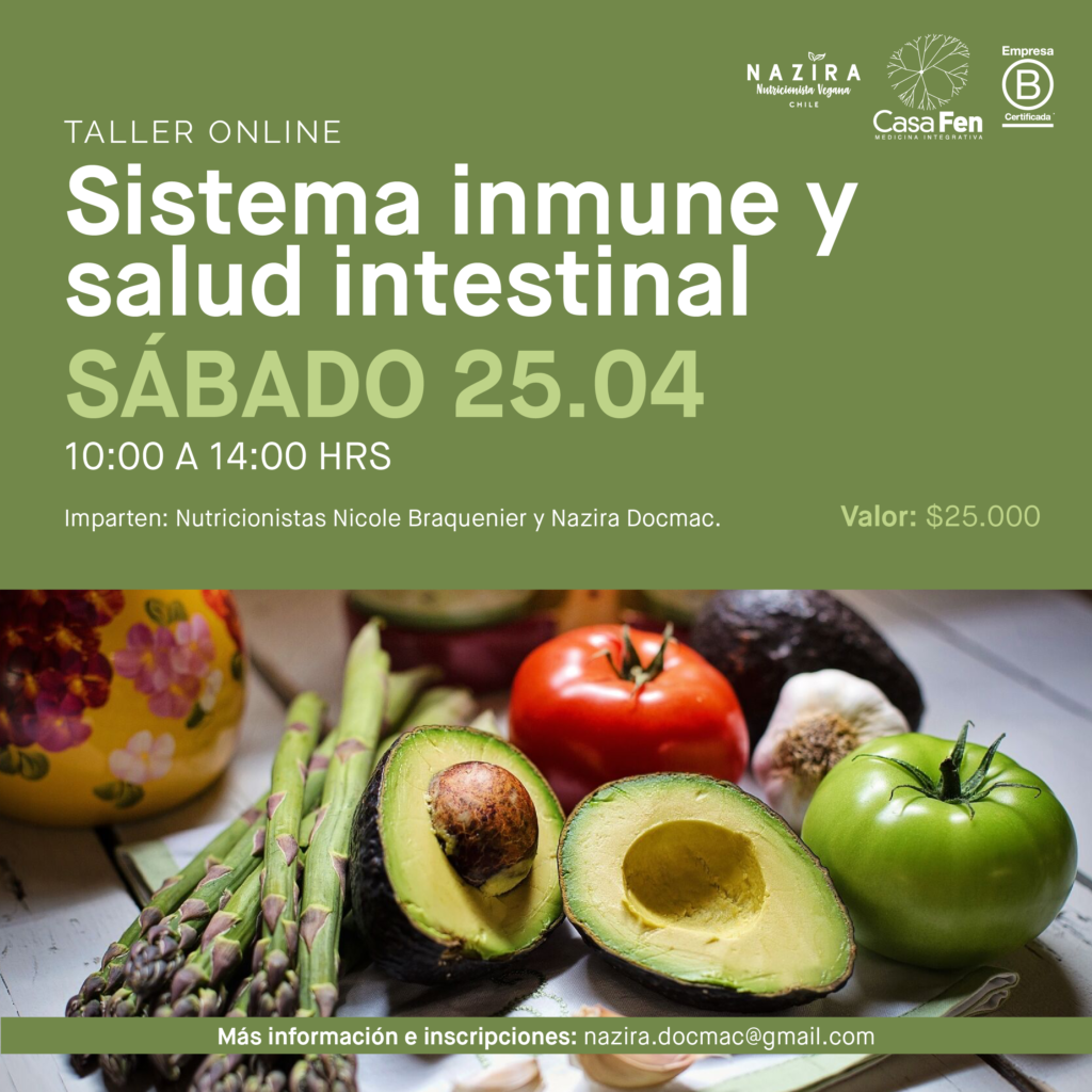 Sistema Inmune y salud intestinal, taller online - CasaFen