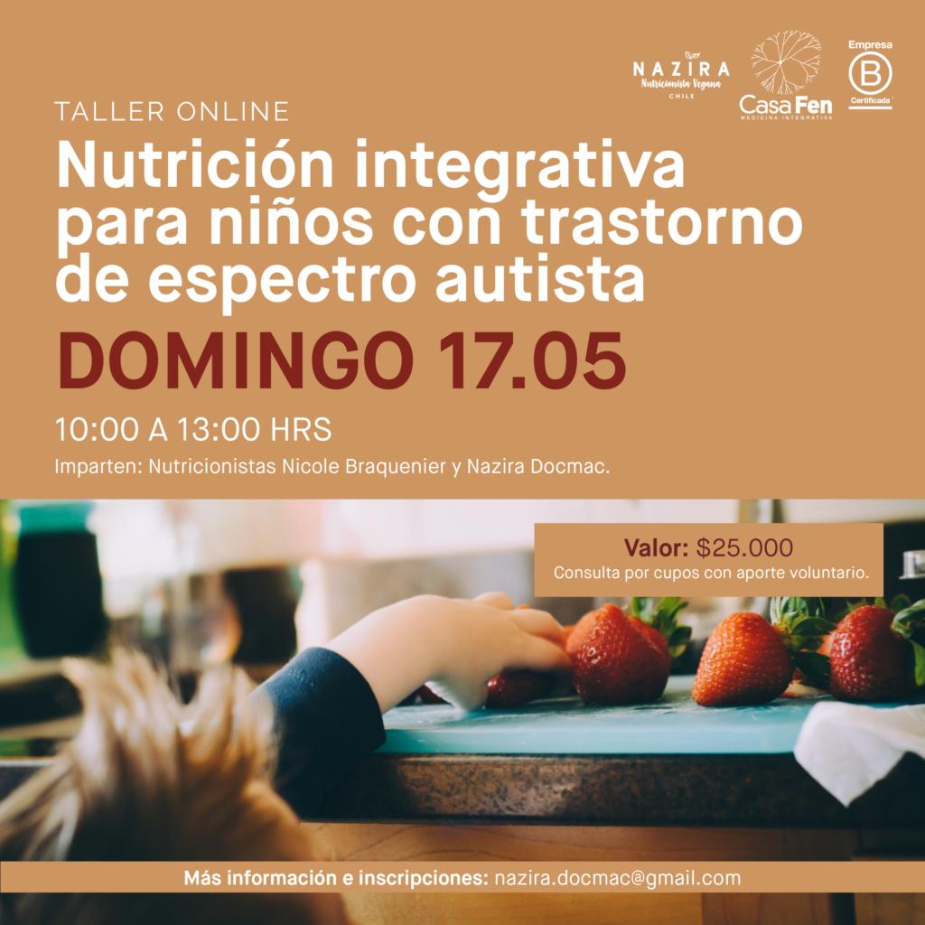 Taller online: Nutrición integrativa para niños con trastorno de espectro autista