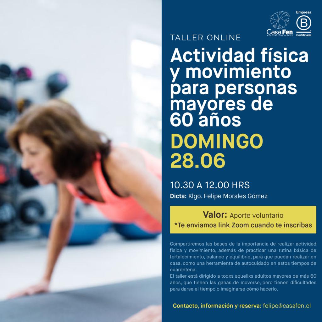 Actividad física y movimiento para mayores 60 años - CasaFen