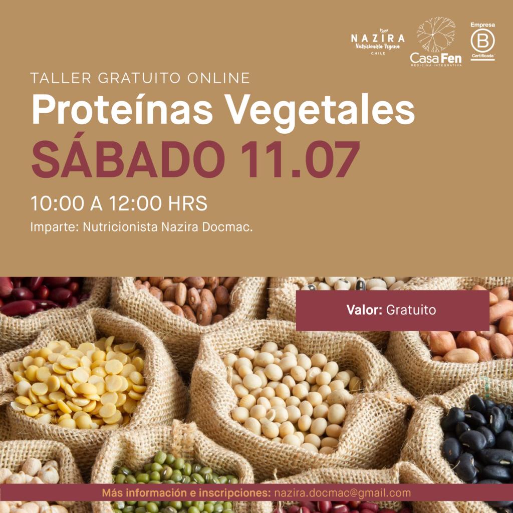 Taller online Proteínas vegetales- Casafen