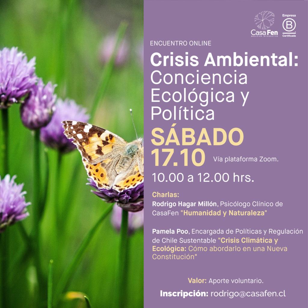 Encuentro online Crisis Ambiental Conciencia Ecológica y Política-CasaFen