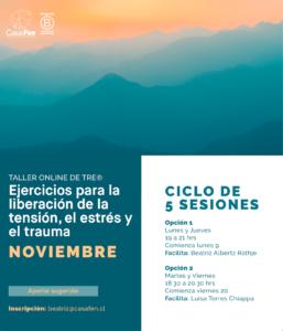 Taller online de TRE®, Ejercicios para la liberación de la tensión, el estrés y el trauma - CasaFen