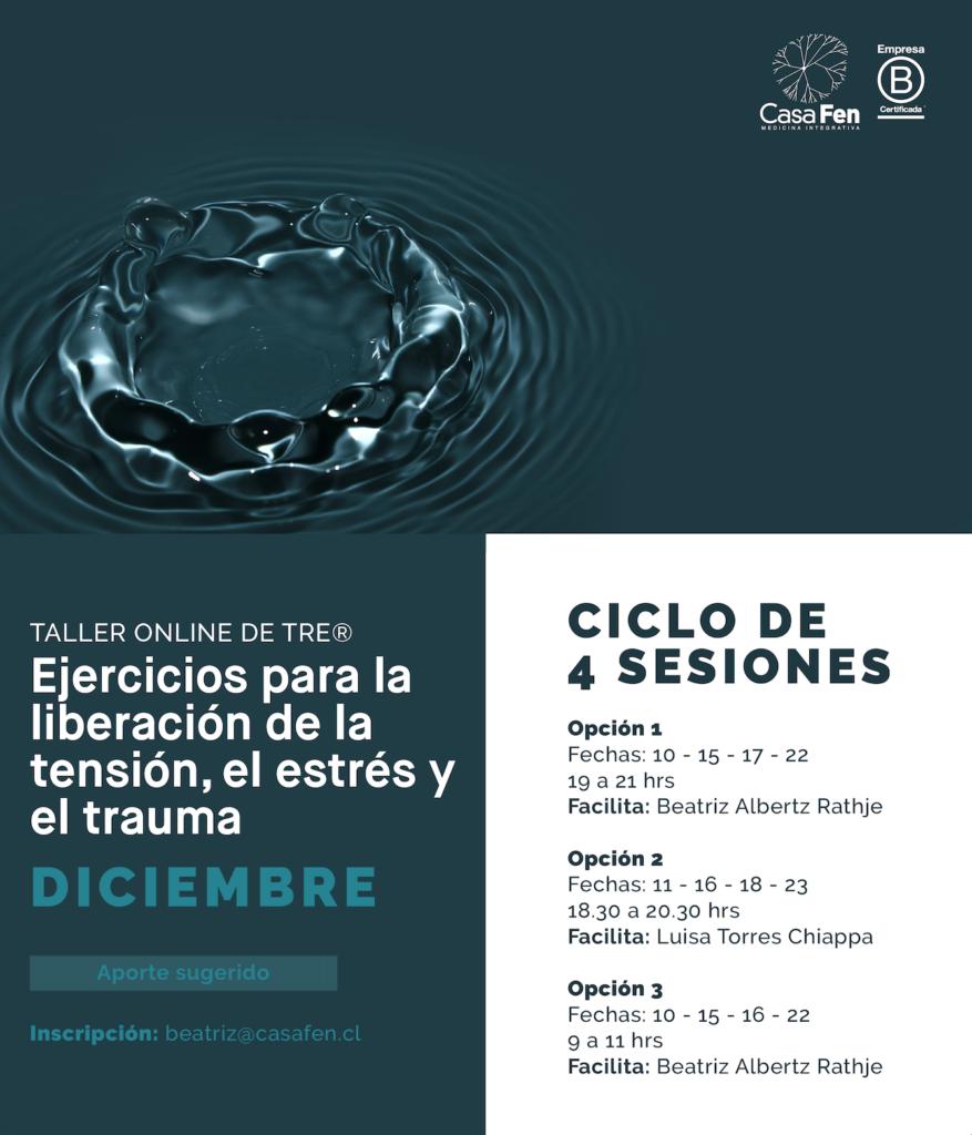 Taller online de TRE®, Ejercicios para la liberación de la tensión, el estrés y el trauma - CasaFen Diciembre 2020