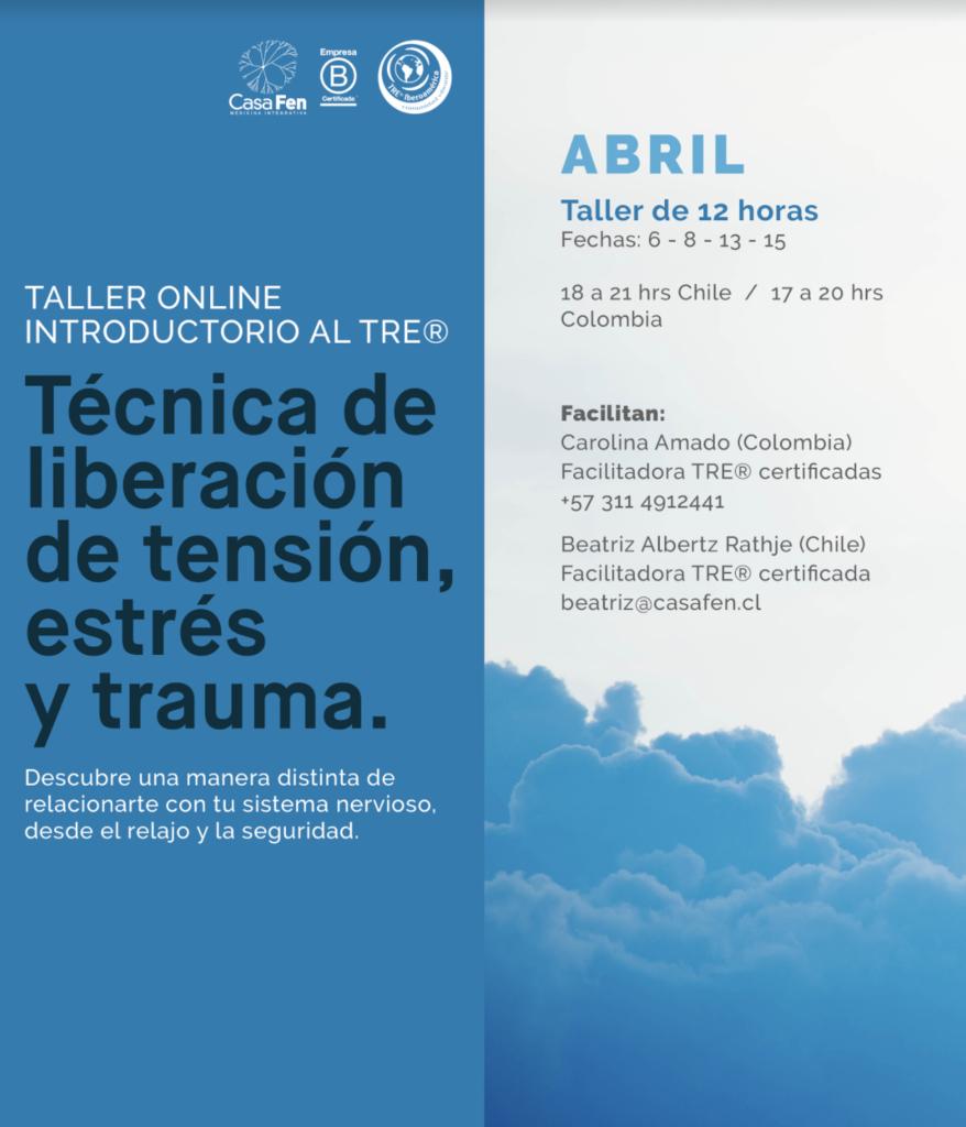 Taller TRE® - liberación estrés, tensión y trauma, abril 2021 CasaFen